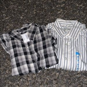 Children's Place Button Up Long Sleeve Shirts